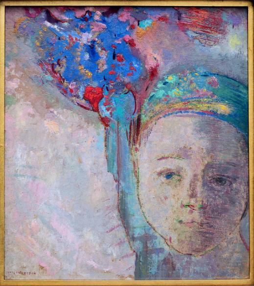 одилон редон голубой портрет